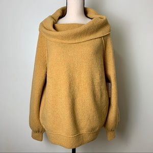 NWT Free People Echo Beach Sweater Gold Size M/M
